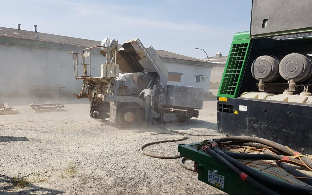 Mobile Heavy Equipment Sandblasting