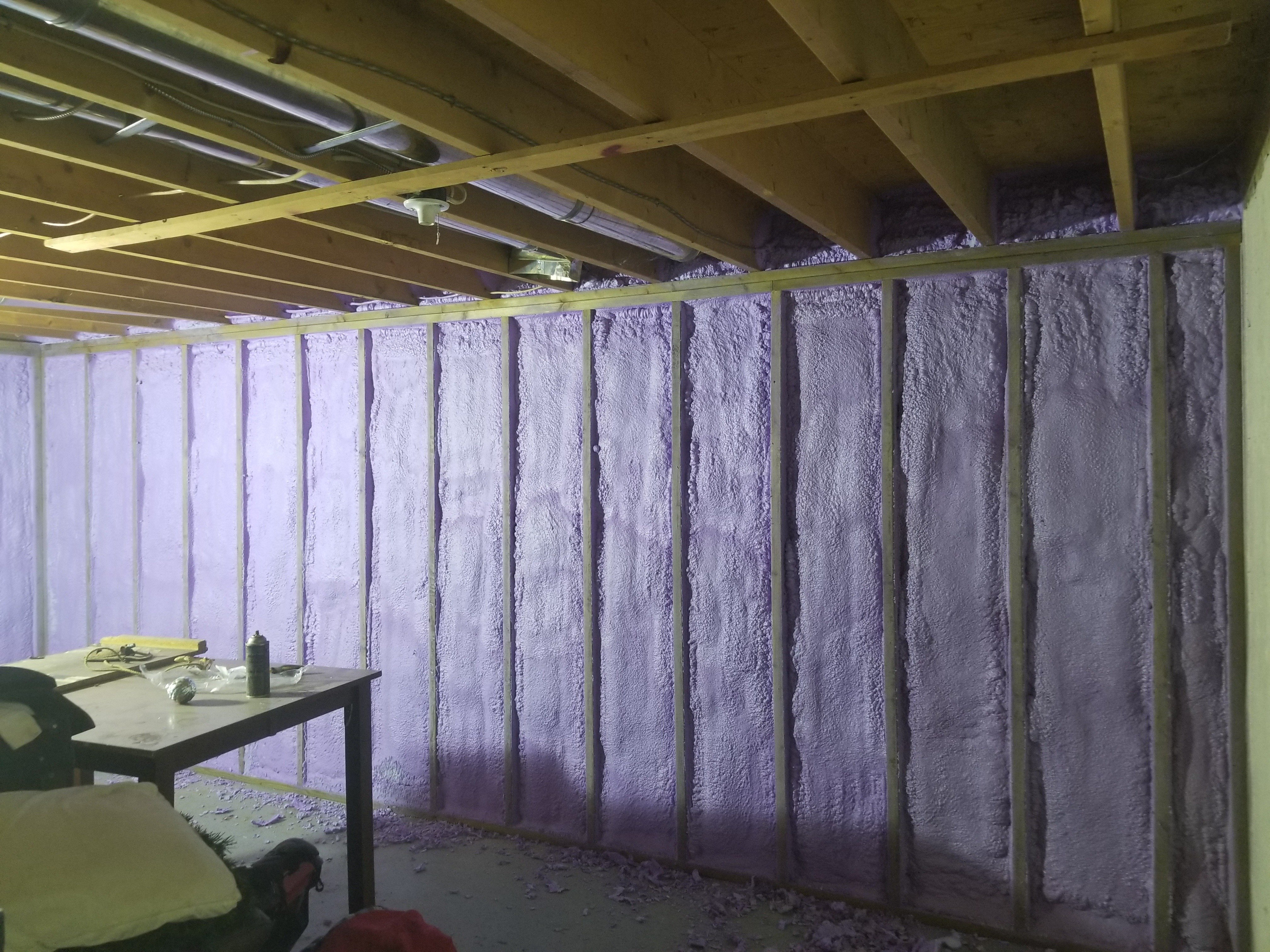Basement-insulation-leak